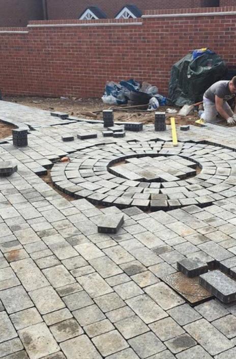 block paving a back garden worcestershire