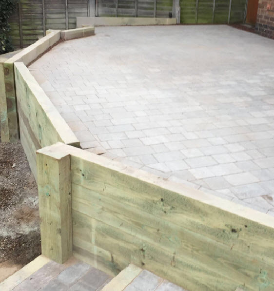 New patio in Worcester UK Worcestershire
