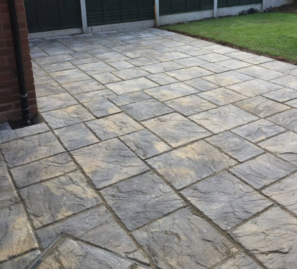 New paved patio worcester